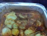 صنية الدجاج مع البطاطا