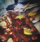 السمك المشوي الحار