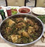 دجاج مشوي مع الرز والفطر