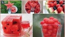 فكرة جميلة لتقديم البطيخ