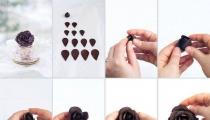 طريقة عمل الورد من الشوكولاتة