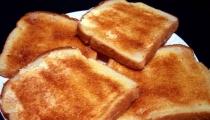 خبز مُحمّص بالزبدة