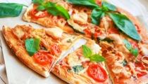 بيتزا بالخضروات الشهية