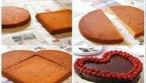 فكرة رائعة للحصول على كعكة بشكل قلب
