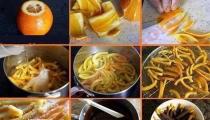 حلوى قشور البرتقال الشهية