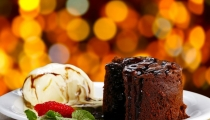 كعكة السوفيليه بالشوكولا الذائبة