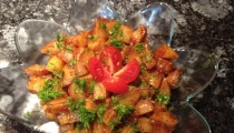 أومفرايز- بطاطا مشويه مع تشيلي