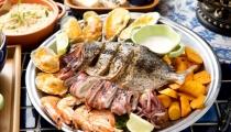 سمك مشوي بنكهة شهية