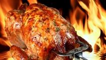 دجاج مشوية بوصفة شهية