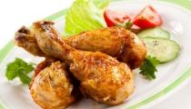 أفخاد الدجاج المشوية الشهية