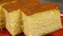 كعكة الأسفنجية خفيفة شهية