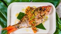 سمكة حارة مشوية